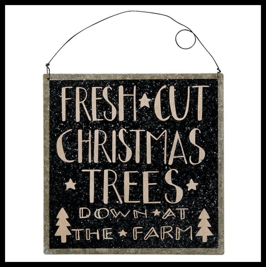 Black Christmas Tree Sign Christmas tree sale, Black