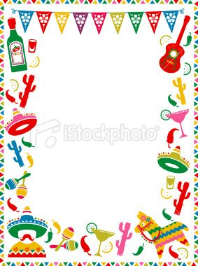 Mexican Party Frame Mexican Party Theme Mexican Party Invitation Mexican Birthday Parties