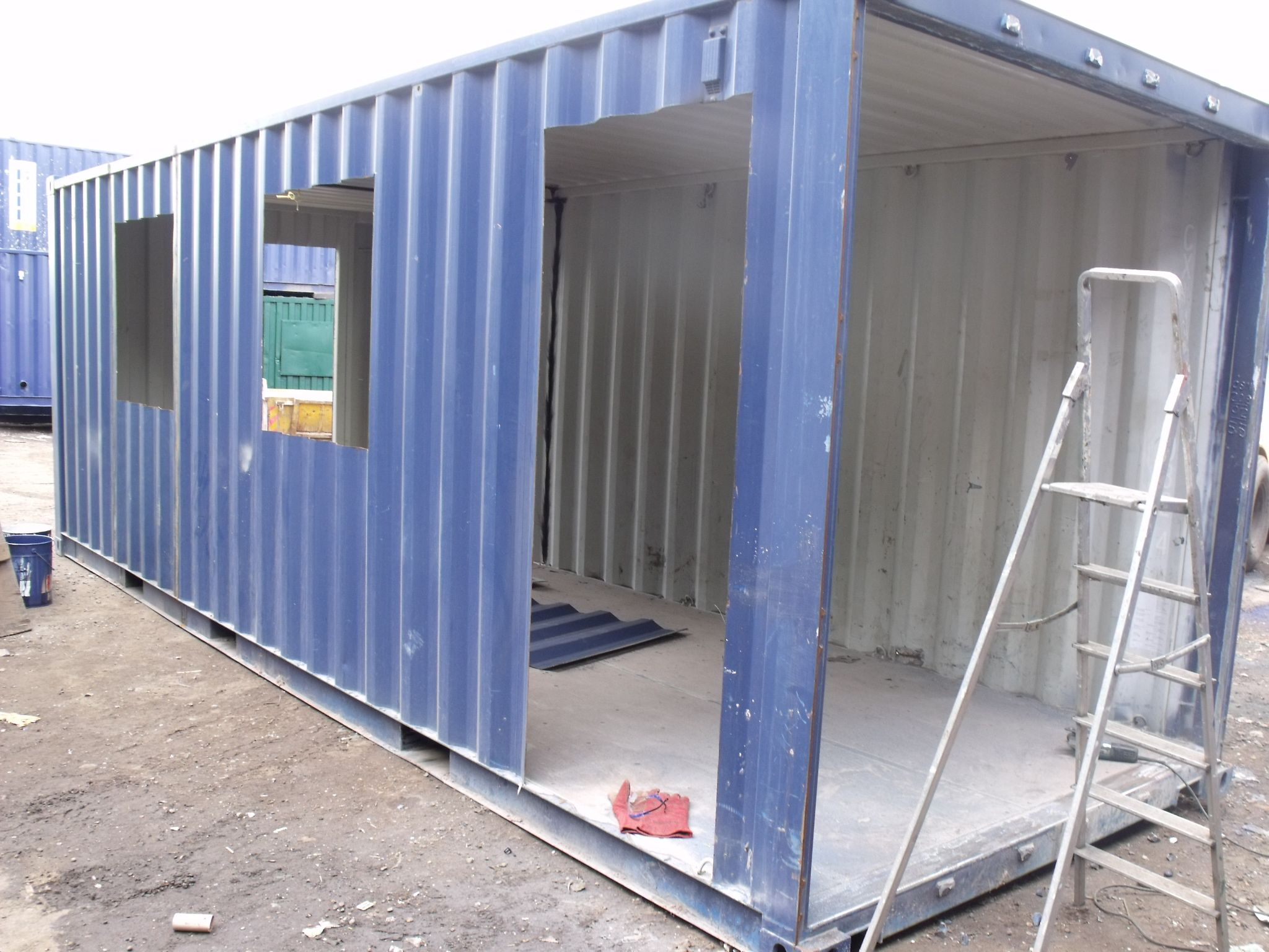 Work In Progress 20ft Container Conversion Mobile Serving Unit Building A Container Home Container House Plans Container House