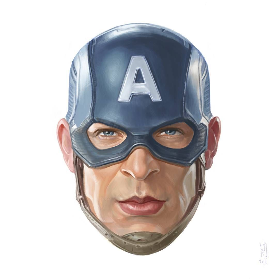5 captain america drawing painting illustration