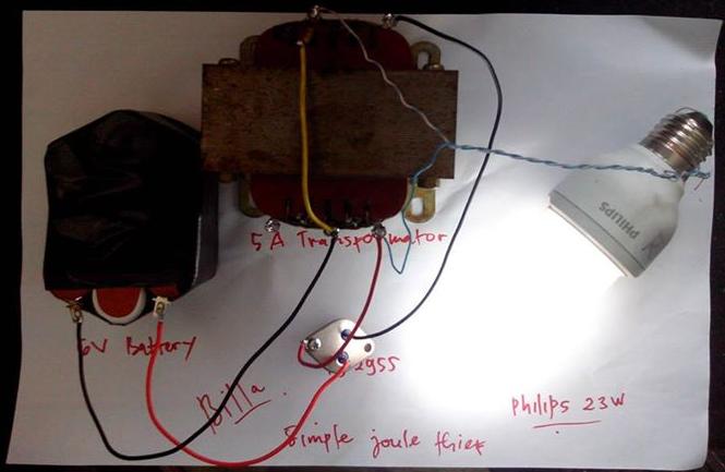 Rangkaian Joule Thief Sederhana Dari 3v Bisa Menyalakan Lampu Neon Skema Rangkaian Elektro Tecnologia Electronica