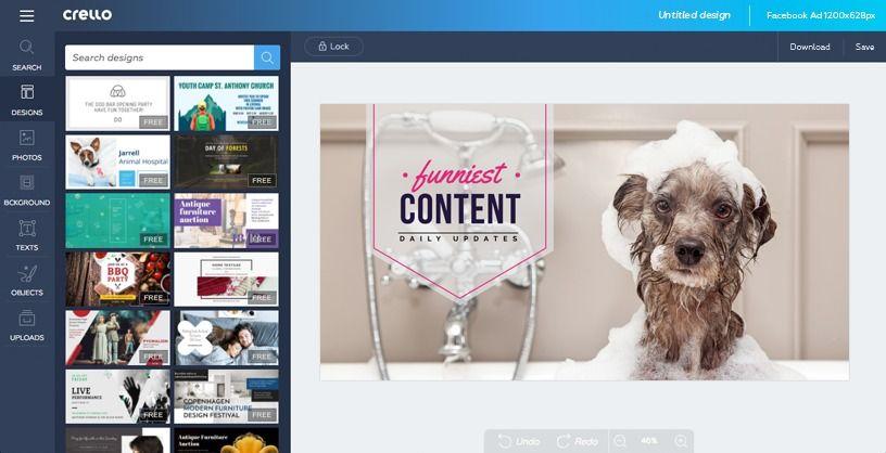 Create A Facebook Ad Facebook Ads Maker Free Online Crello Facebook Ad Template Ad Maker Crate Training