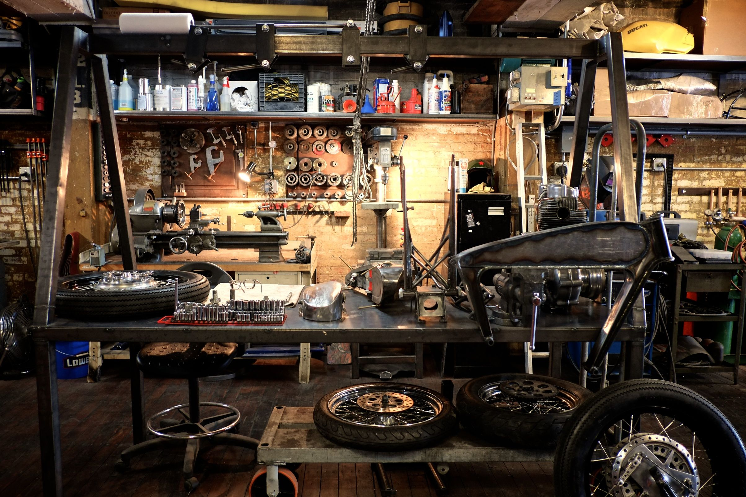 Motorcycle Man Cave