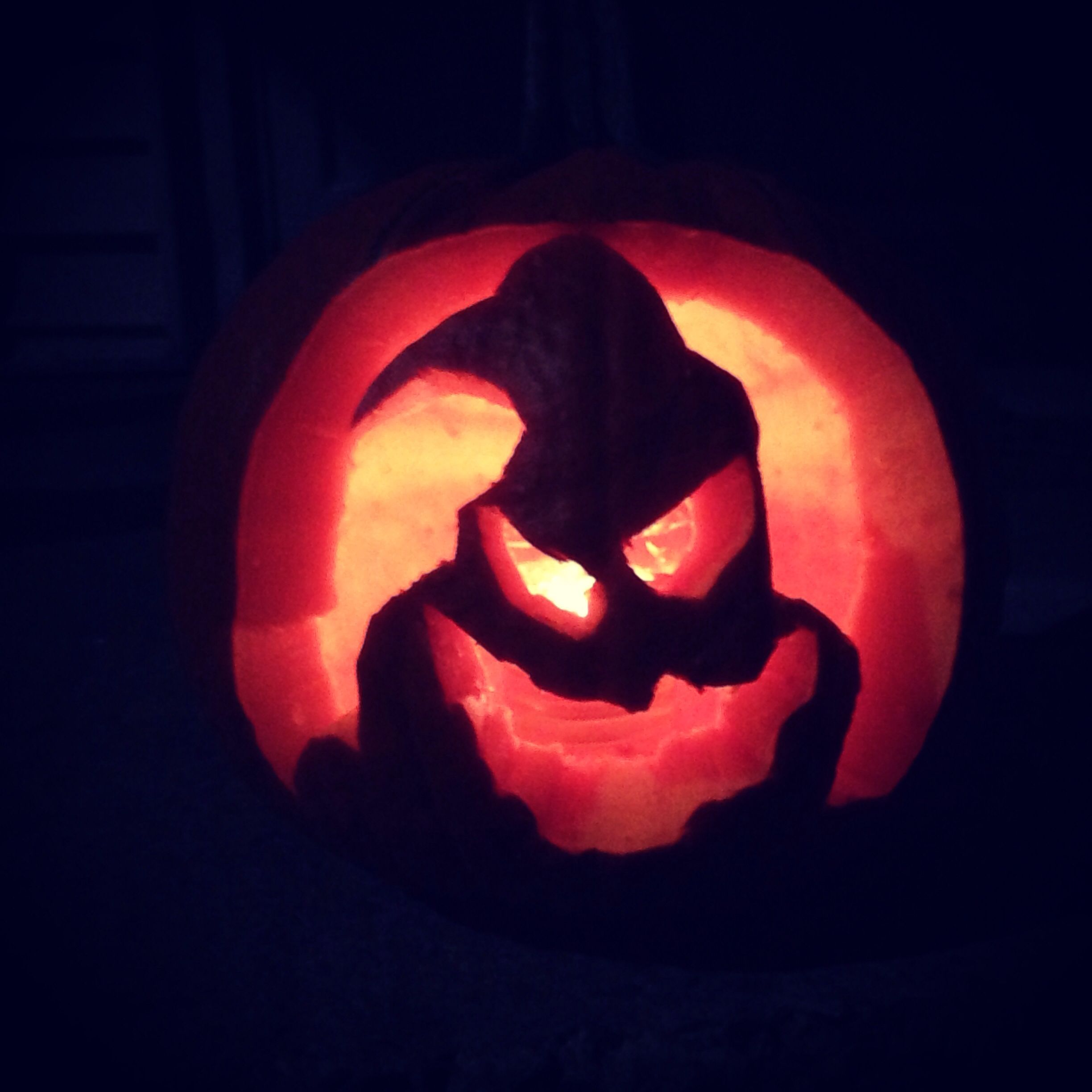 Oogie Boogie Man pumpkin carving from A Nightmare Before Christmas ...