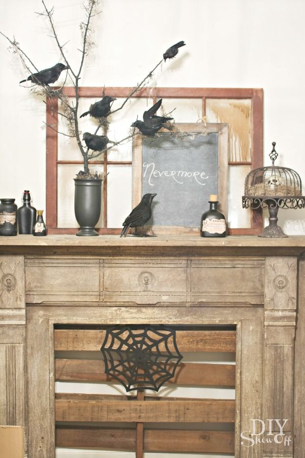 DIY Show Off Mantels, Mantle decorating and Mantle