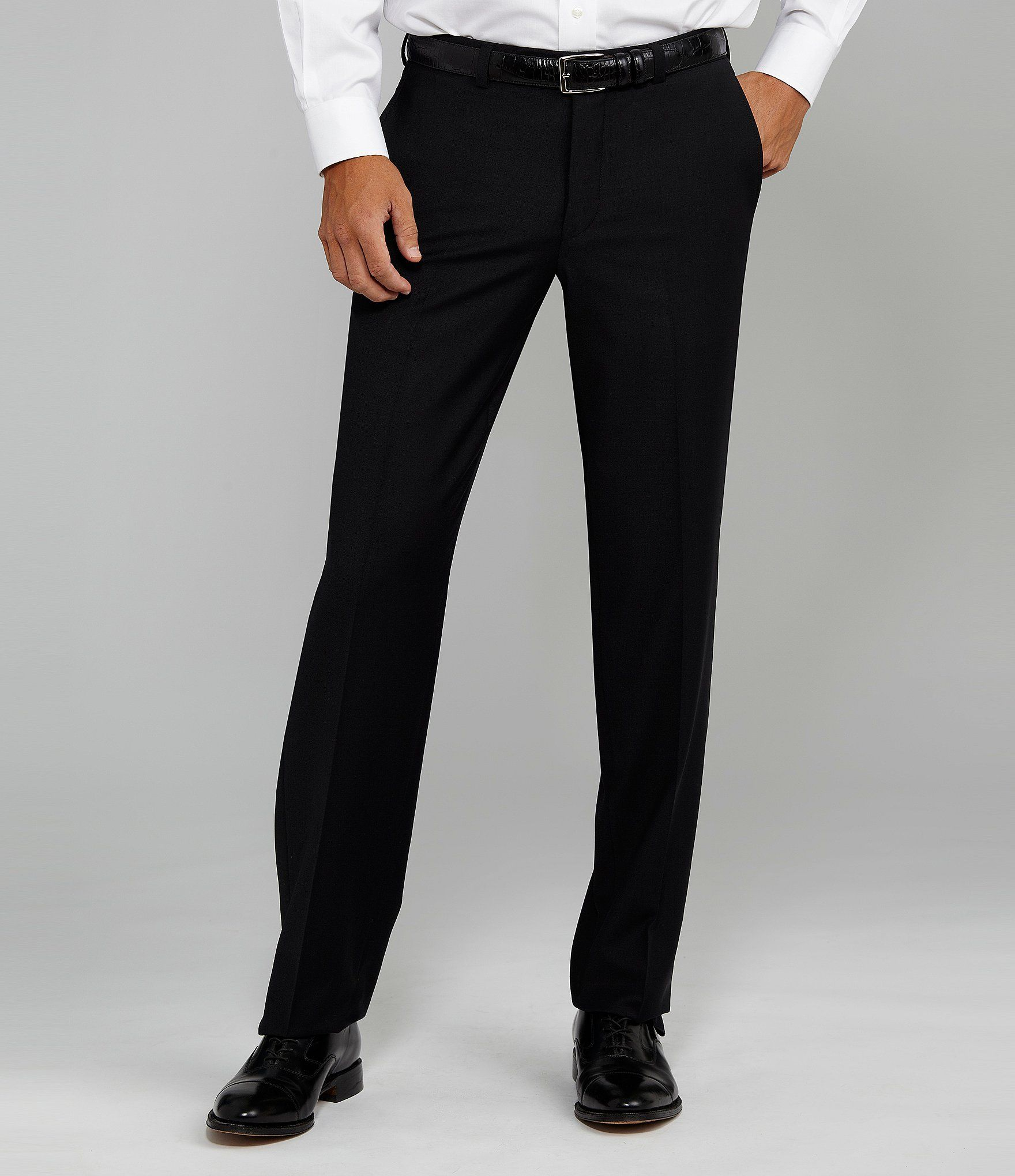 Cremieux Flat Front Modern Fit Travel Smart Dress Pants Dillard S Smart Dress Black Dress Pants Black Dress Pants Outfits [ 2040 x 1760 Pixel ]