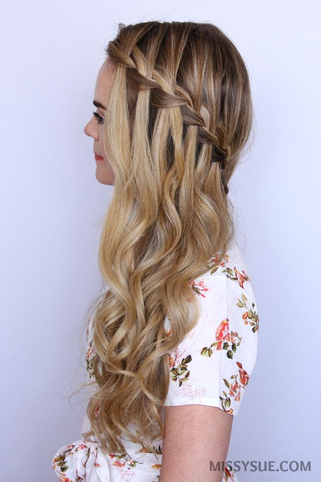 waterfall-braid-sideswept-hair-tutorial | Women\'s World ...