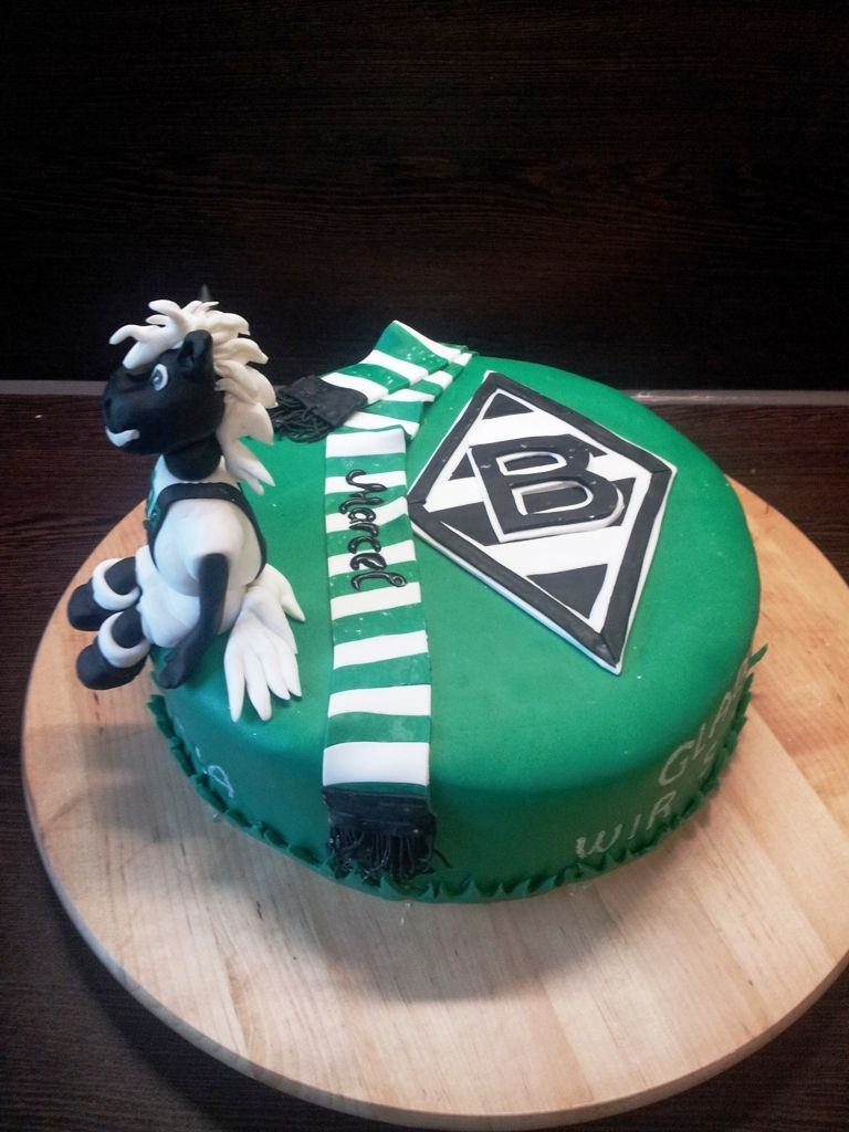 Borussia Monchengladbach Torte Motivtorten Fussball Kuchen Borussia Monchengladbach