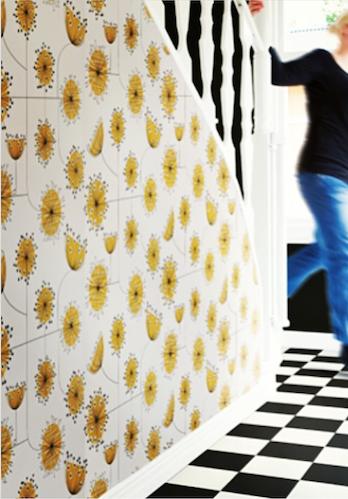 MissPrint Dandelion Mobile Porcelain With Yellow Wallpaper.
