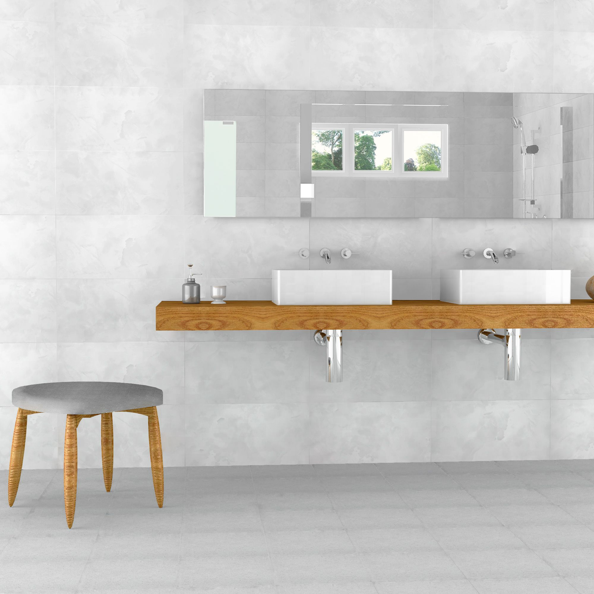 Flair Blanco tiles in 30x60 cm