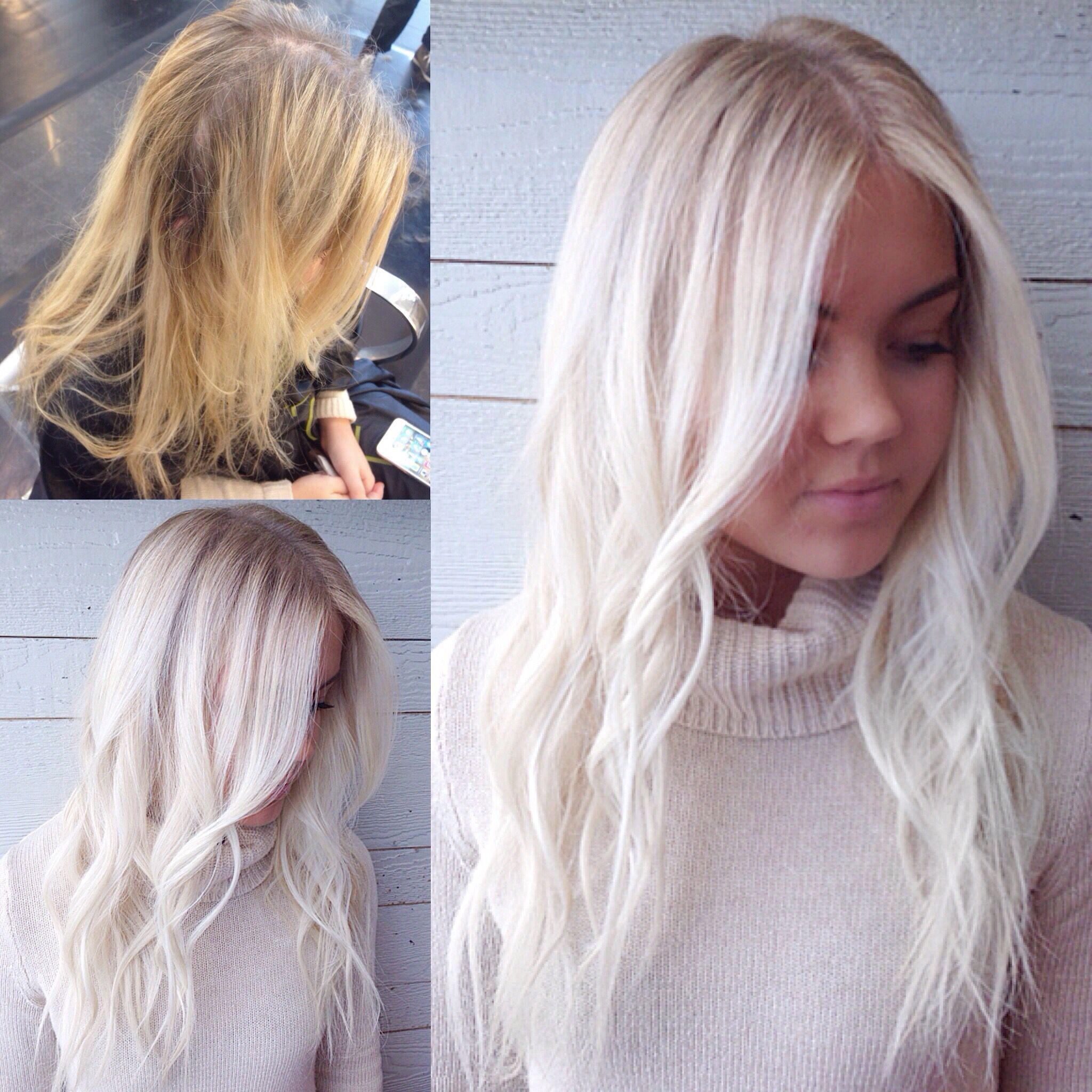 Brassy Partial To Icy Elsa Blonde With Soft Rootiness Icy