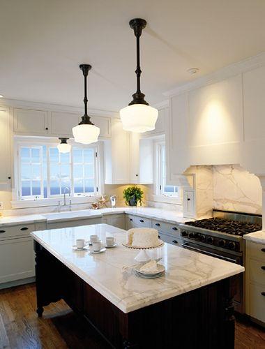 Schoolhouse Electric Kitchen Remodel School House Lighting Kitchen Design Country kitchen pendant lighting