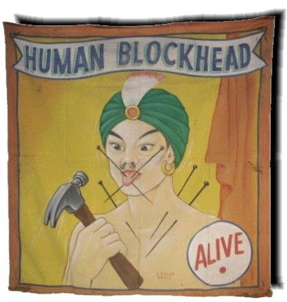 sideshow banners | sideshow banner human block head