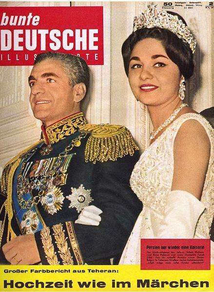 1960 Schah Reza Pahlewi Und Kaiserin Farah Von Persien Farah Diba Iranian Women Fashion Farah