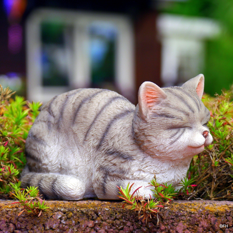 Als Gartendeko Susse Katzen Garten Deko Katzen