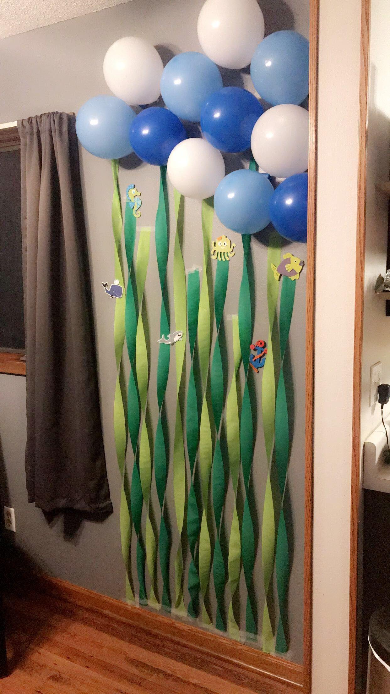 Pin By Harryette O Brien On Easton S 1st Birthday Shark Theme Birthday Shark Themed Birthday Party Boy Birthday Parties