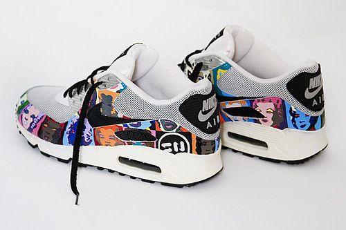 Custom Nike Air Max 90 Andy Warhol Marilyn Monroe | Nike air