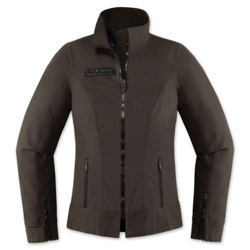 ICON One Thousand Women's Fairlady Textile Espresso Jacket - 2822-0943   JPCycles.com