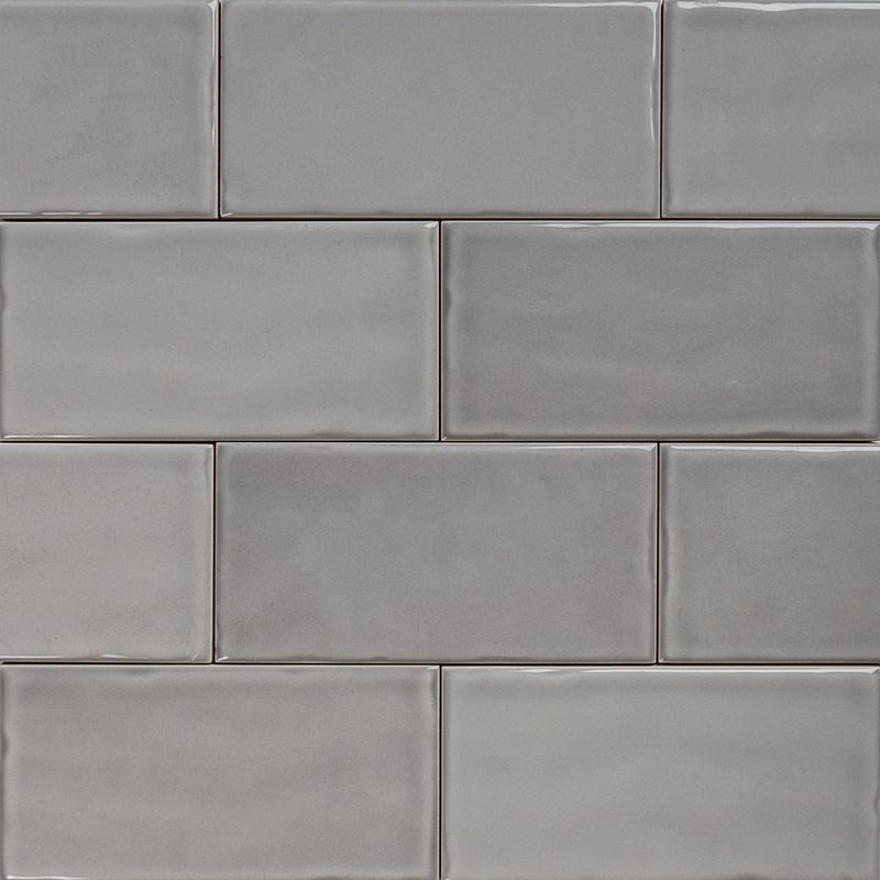 Subway Pale Grey Gloss Wall Tiles 15075 Classico Textured