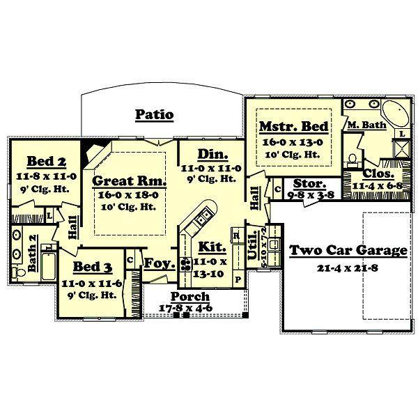 1600+heated+sq+ft+house+plans+open+floor+plan | ... Floor 1600 ...