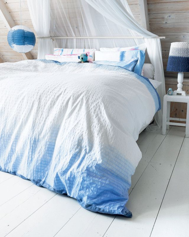 Ease In With A Diy Dip Dye Treatment Of Your Duvet Cover Scrunch Up