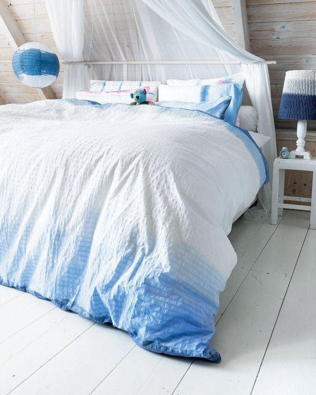 Dip Dye Beddengoed 101 Woonideeen Diy Tie Dye Bed Sheets Diy Tie Dye Bedding Bedroom Diy