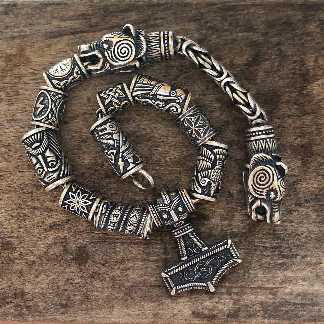 Eagle Lynx Vikings Bracelet Ravens bracelet Wolves bracelet RuyaNbeads Bracelet Charm Bracelet