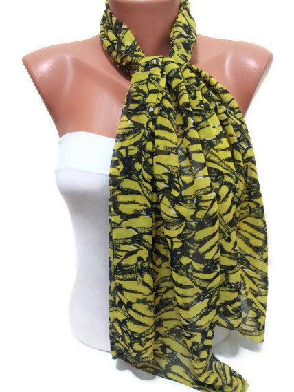 Yellow and Black Scarf TrendyScarf by TrendyScarf on Etsy, $9.99