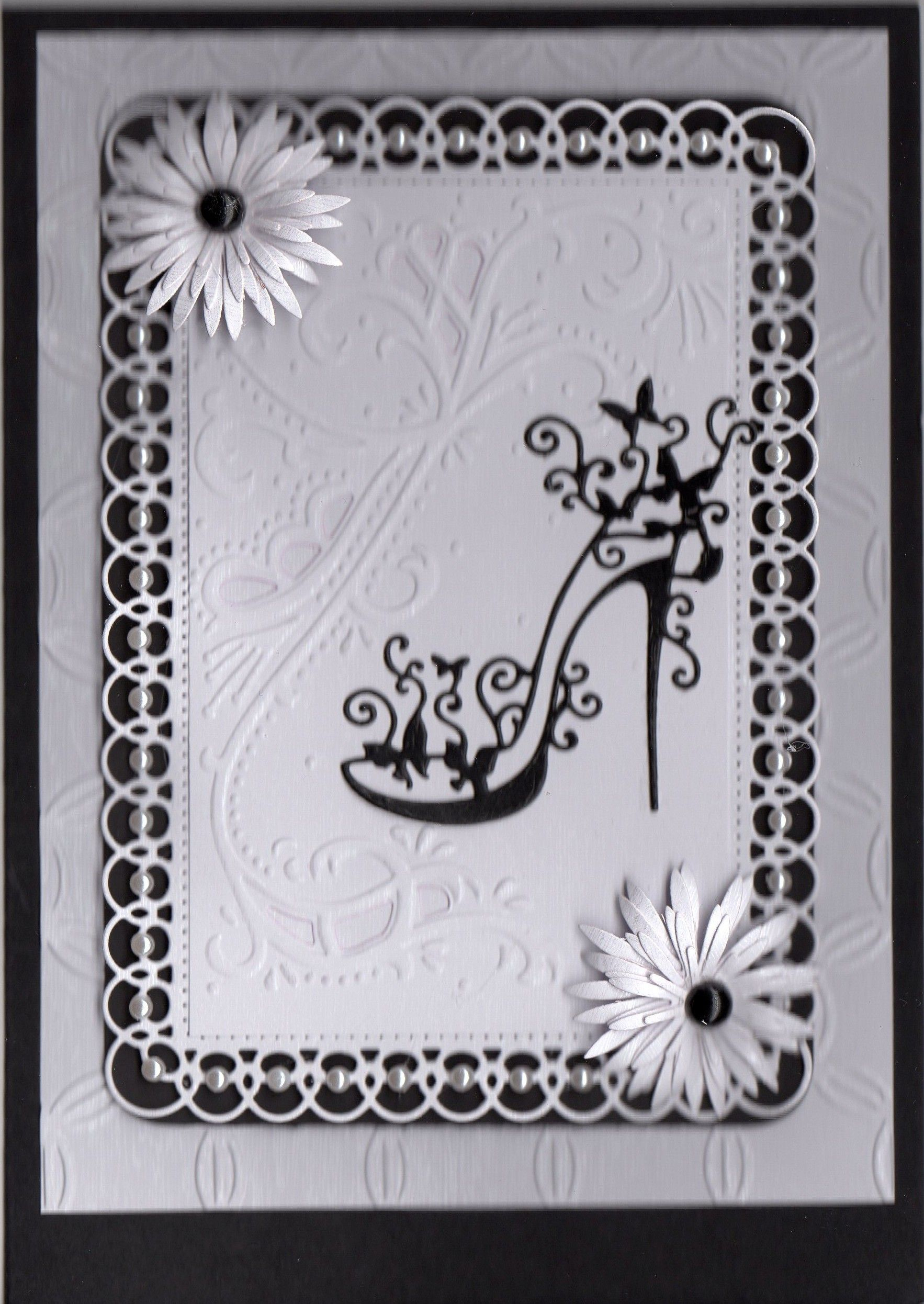 Tattered Lace Shoe Die Cards 25 Cards Tattered Lace