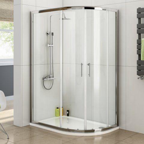 900x1200mm - 6mm - Elements Offset Quadrant Shower Enclosure [PT-GQB1290] - £279.99 : Platinum Taps & Bathrooms
