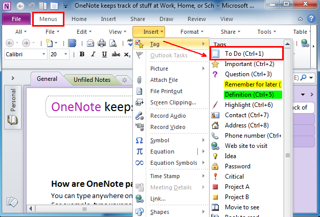 Where Is To Do List In Microsoft Onenote  And   Office