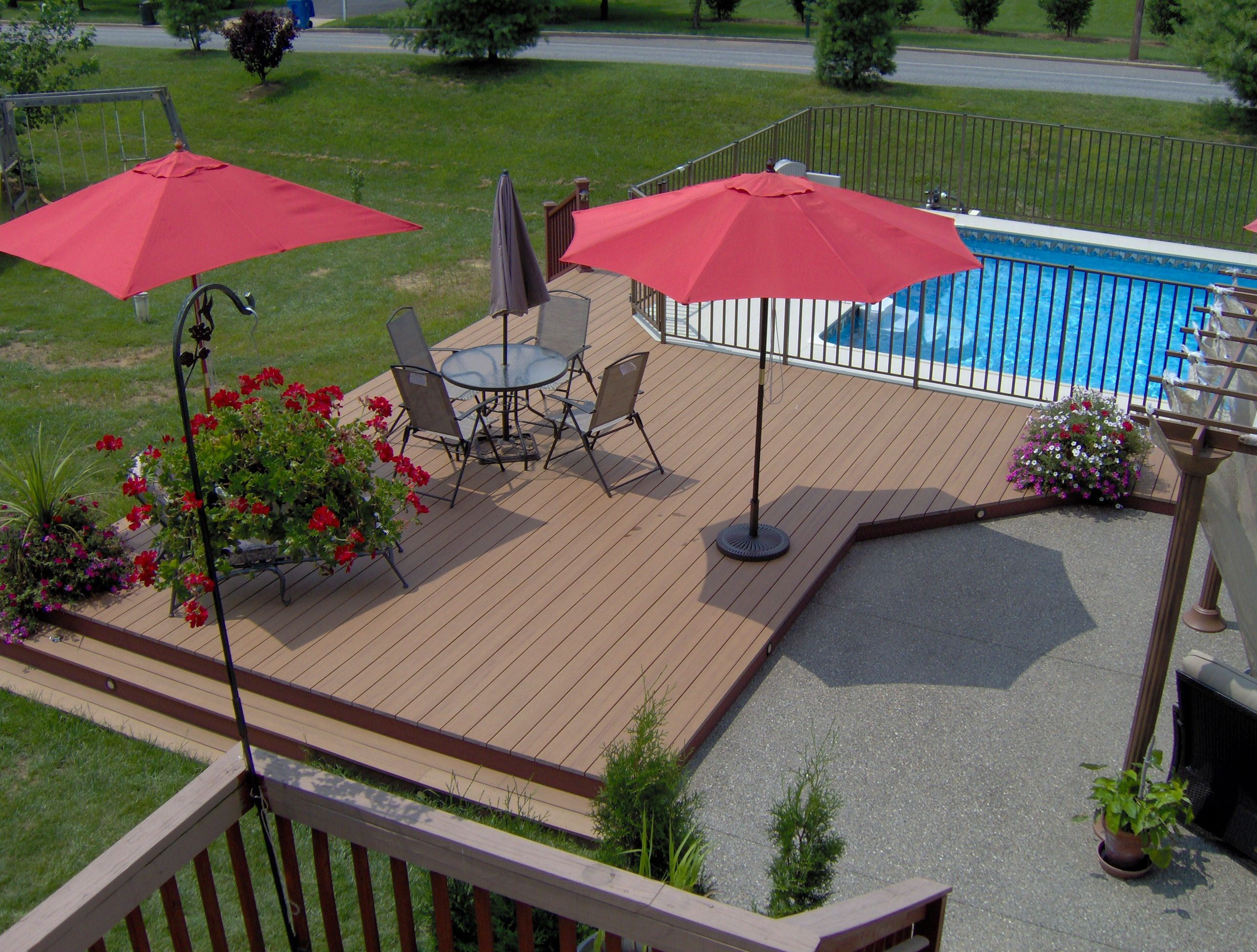 Trex Deck Pool And Patio Create Space