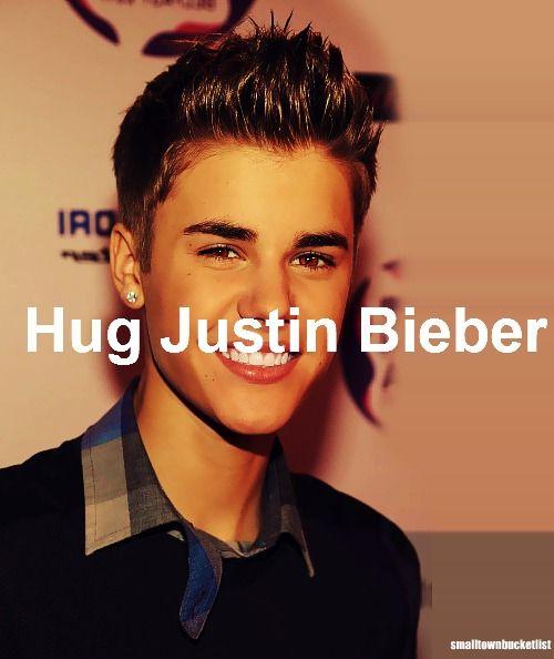hug justin bieber.