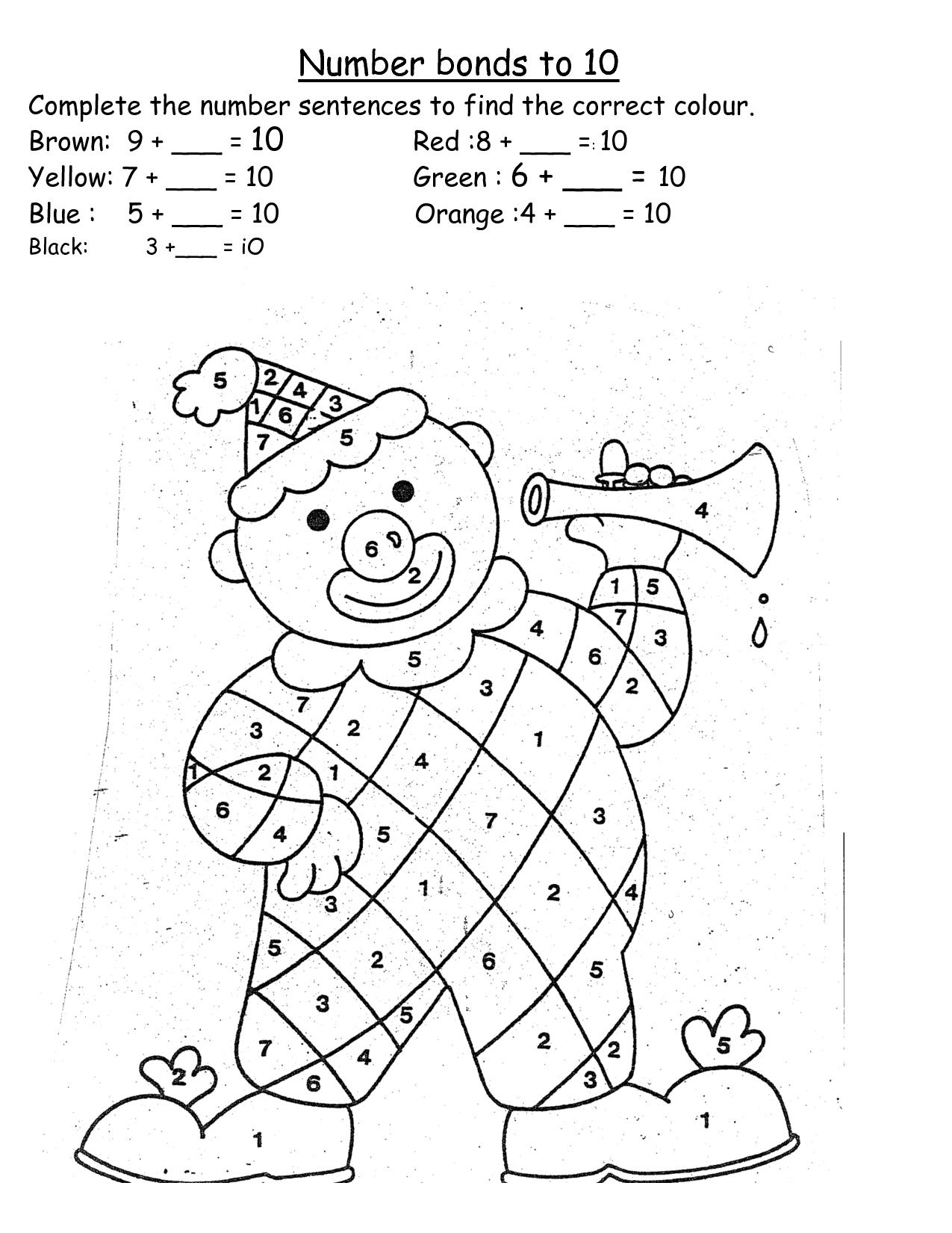 number bonds worksheet to 10 - Google keresés | Matematika 1 ...