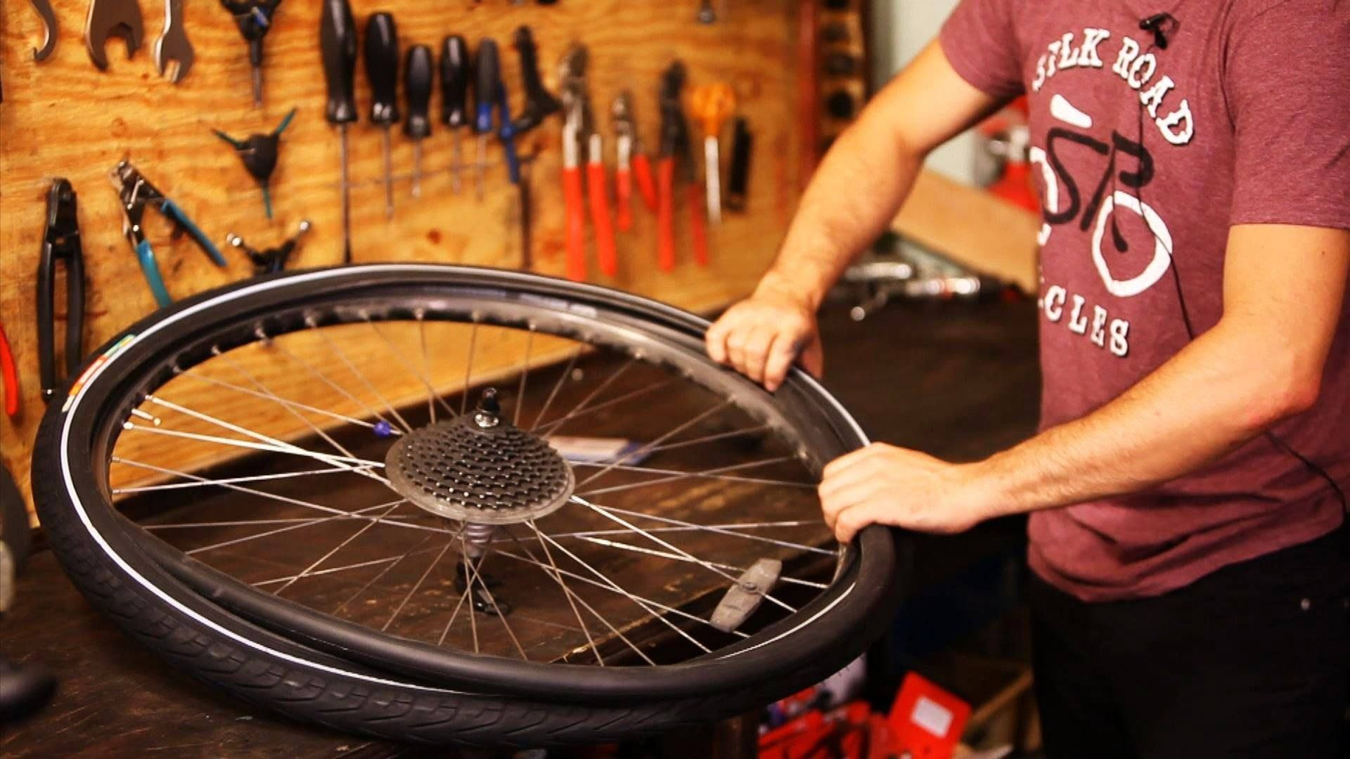 How To Change A Mountain Bike Tire With Images Bike Repair