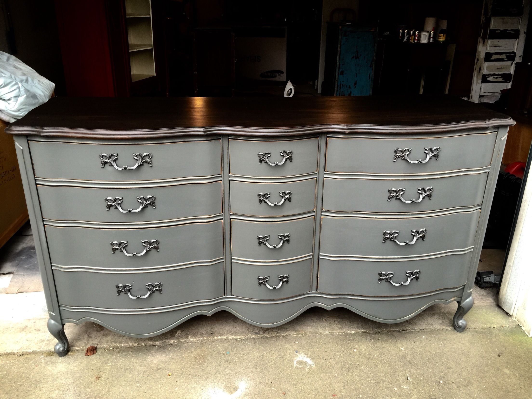 French Provincial Dresser Refinished