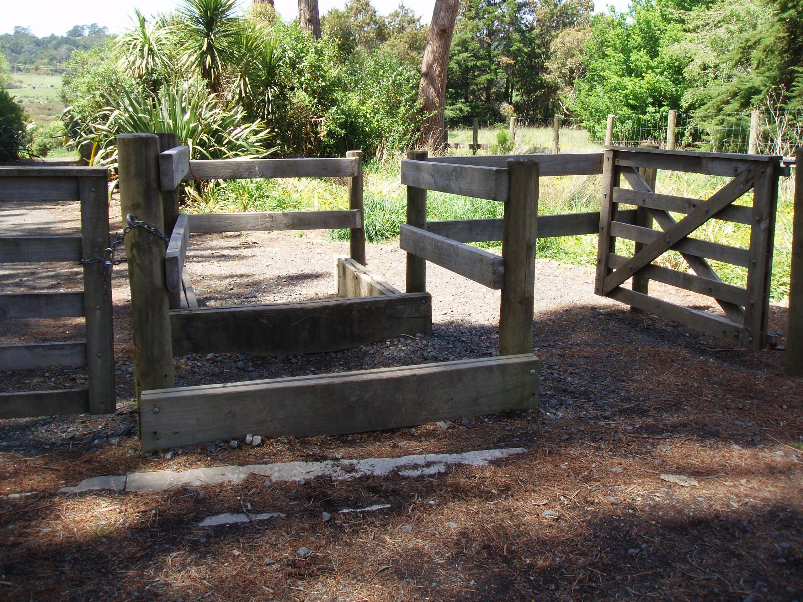 horse access stile including walking gates intended to keep