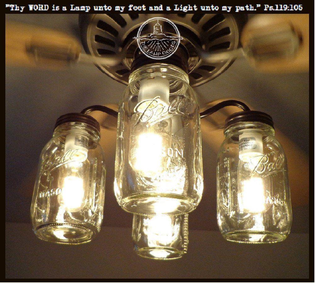 Mason jar ceiling fan light kit new quart jars fan light kits mason jar ceiling fan light kit new quart jars arubaitofo Images