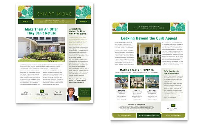 realtor newsletter templates - real estate newsletter design template by stocklayouts