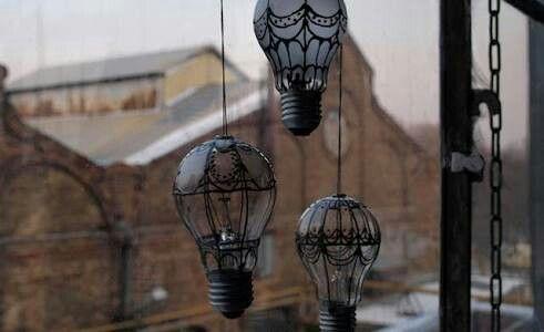 Baloes de ar com lâmpadas