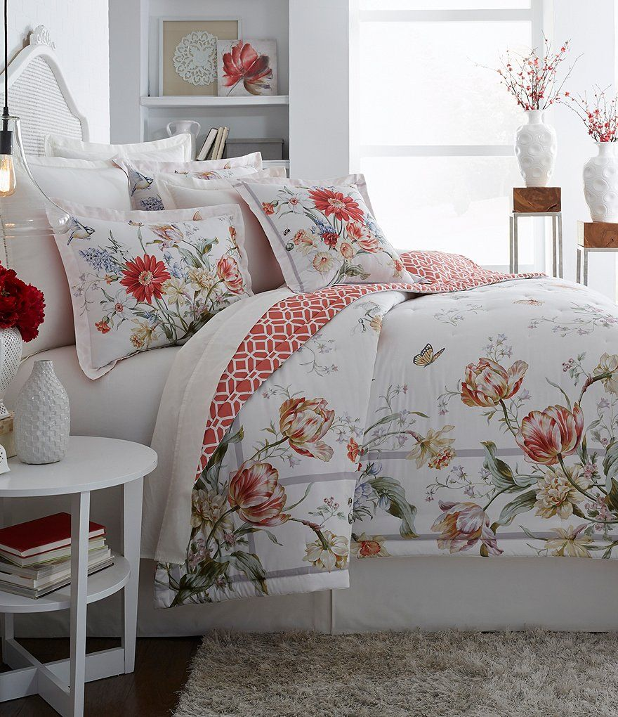 Southern Living Devereaux Floral Comforter Mini Set Oversize Floral Pattern On White Background Bedding G Spring Bedroom Decor Simple Bed Home Decor Styles