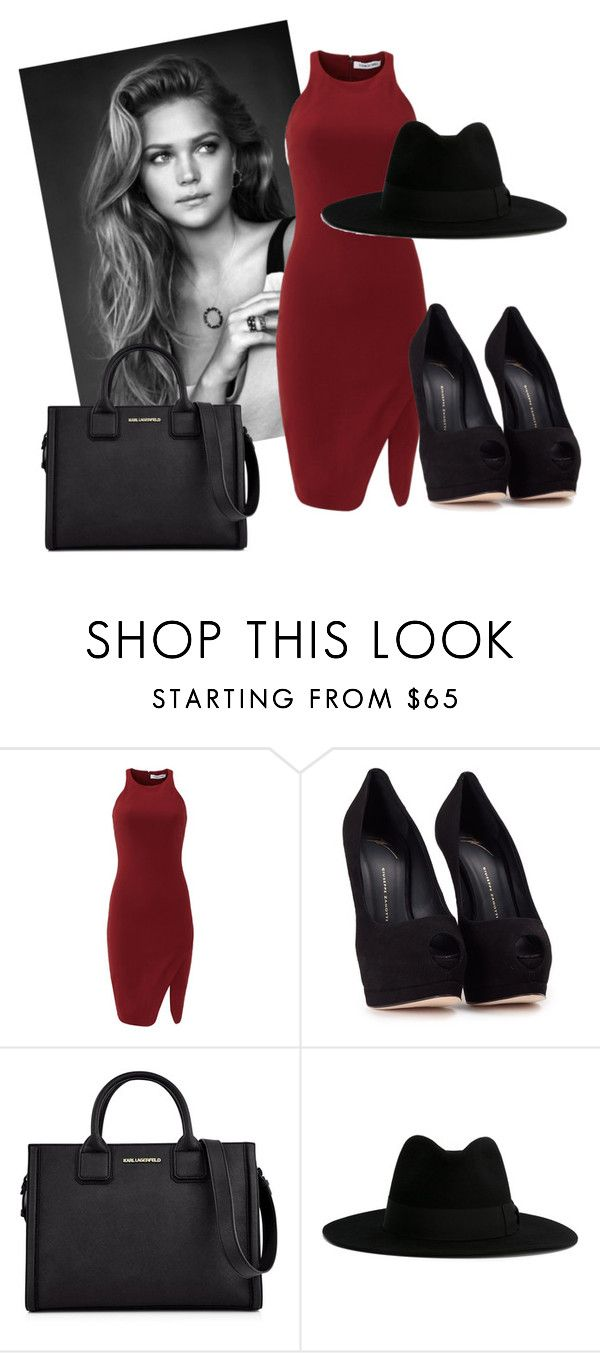 """""""Untitled #60"""" by triceyfashion on Polyvore featuring Elizabeth and James, Giuseppe Zanotti, Karl Lagerfeld and Yves Saint Laurent"""