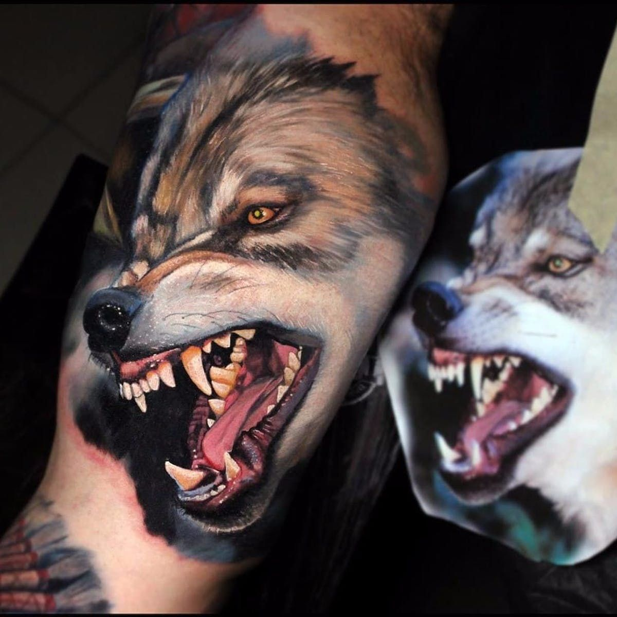 Fierce Wolf By Dave Paulo Davepaulo Realism Realistic Hyperrealism Color Wolf Dog Teeth Portrait Nature Anima Wolf Tattoos Wolf Tattoo Snarling Wolf