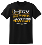 BLACK Adult Hey Batter Cotton Short Sleeve T