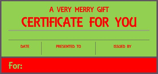 1000 images about Printable Gift Certificates – Christmas Gift Card Template