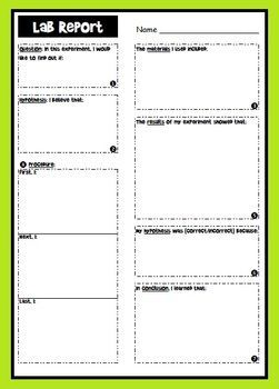 Lab Report Graphic Organizer  Graphic Organizers Labs And