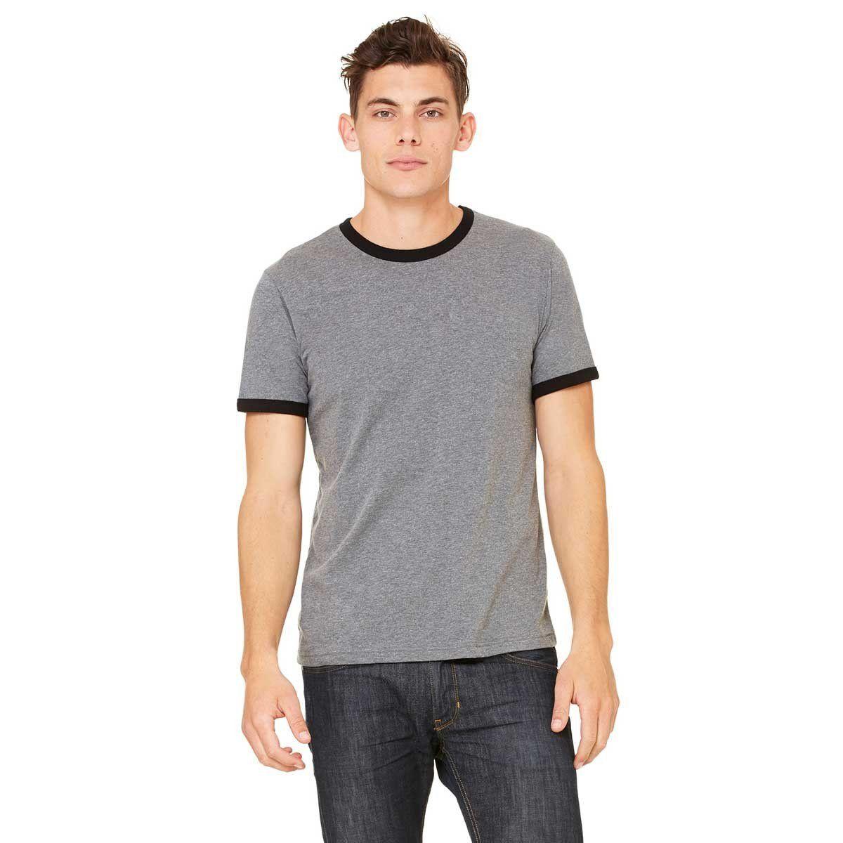Bella Canvas-Heather Ringer Jersey T-Shirt