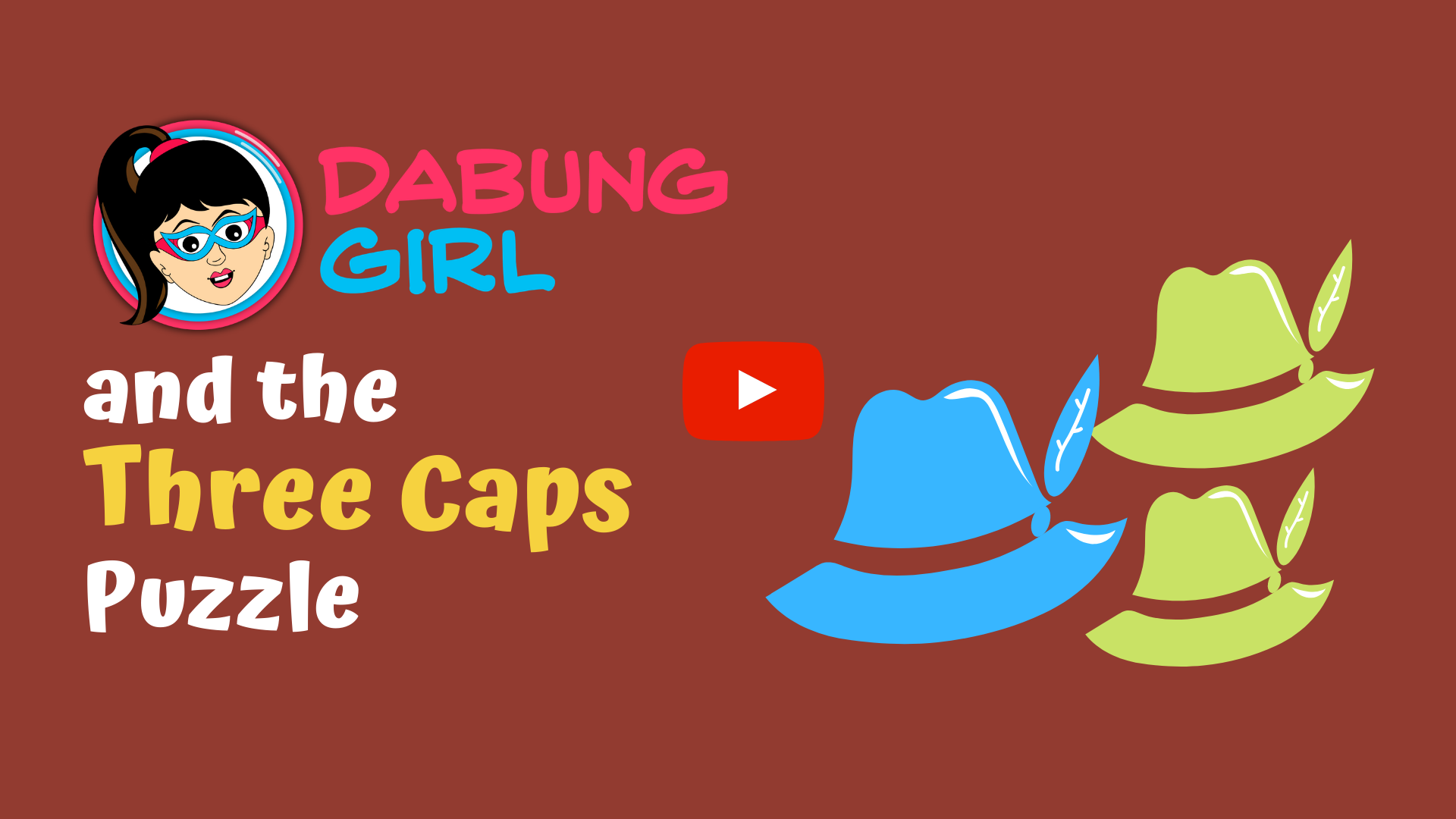 Dabung Girl And The Three Caps Puzzle Critical Thinking Activity The Three Hats Critical Thinking Activities The Magicians Critical Thinking