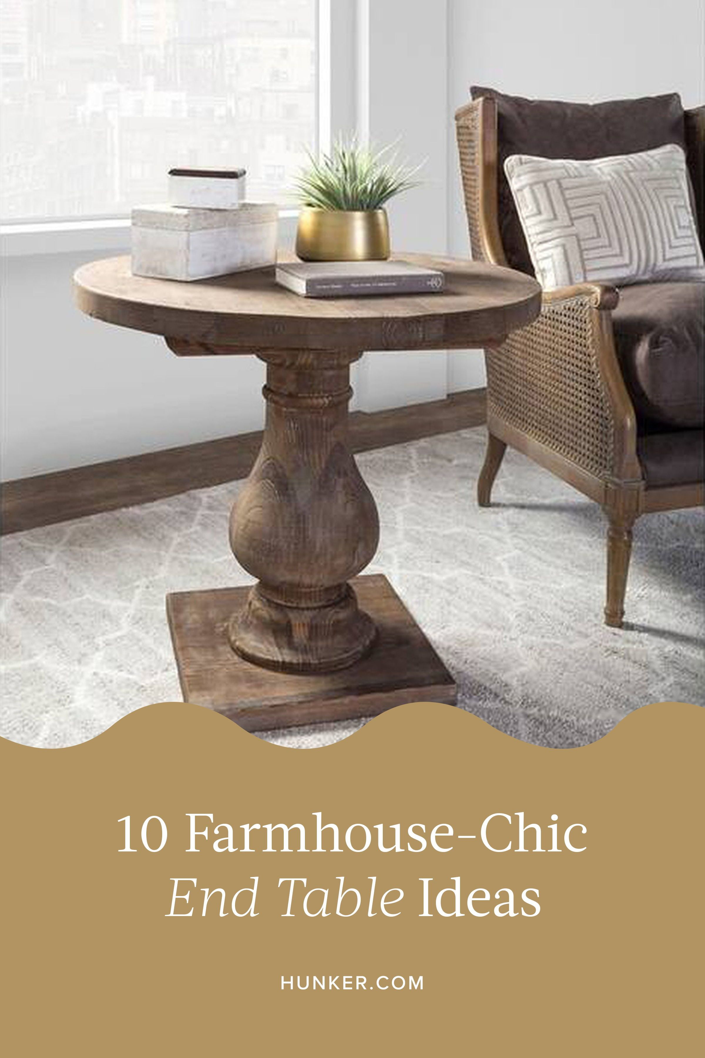 rustic farmhouse style end tables