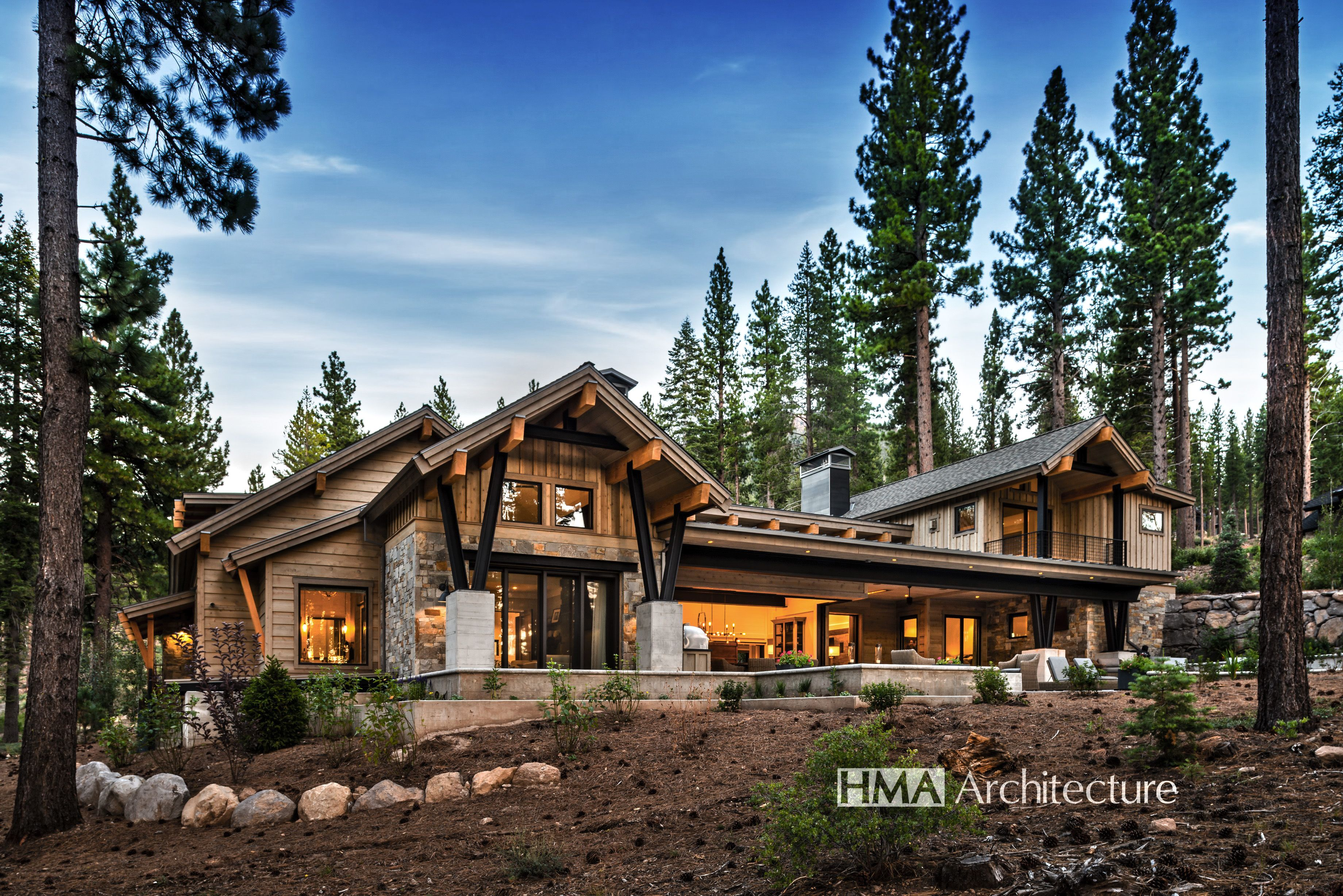 Mountain Modern Home By Hma Architecture Modern Mountain Home Mountain House Plans Mountain Home Exterior